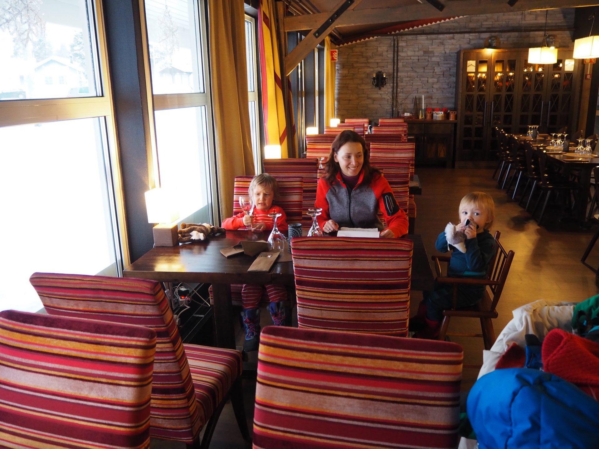 saariselka holiday club ravintolassa