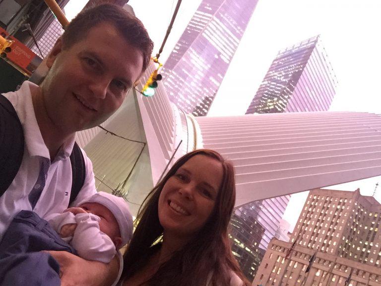 new yorkissa vauvan kanssa