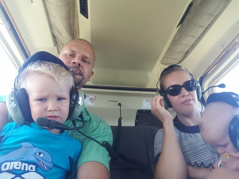 helikopterissa