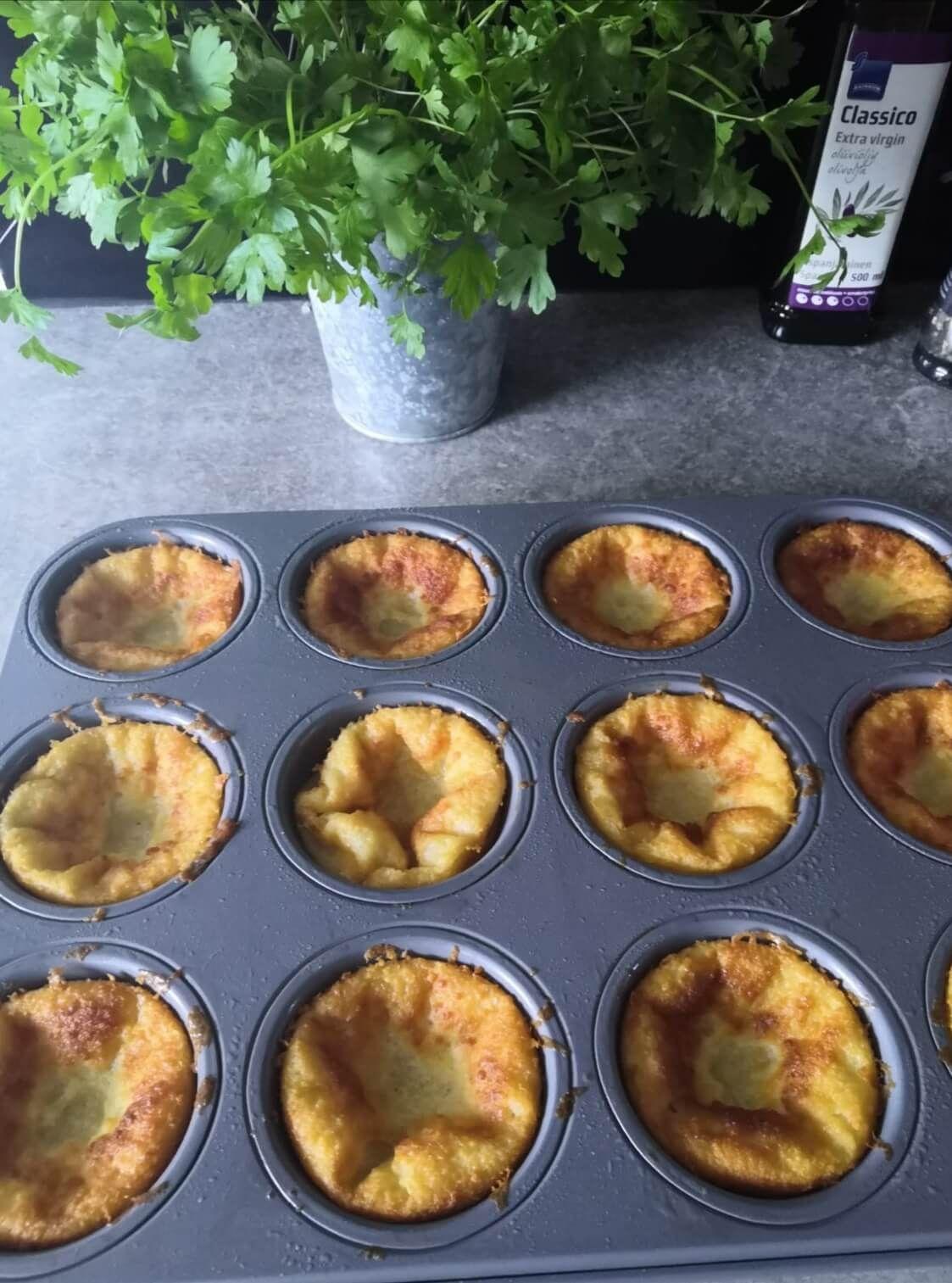pannukakku muffinivuoassa