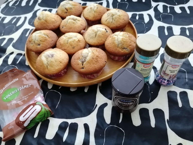 Muffinssien koristelu