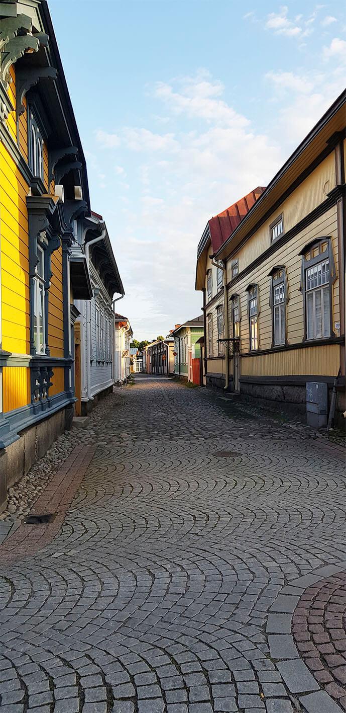 vanhaa kaupunkia raumalla