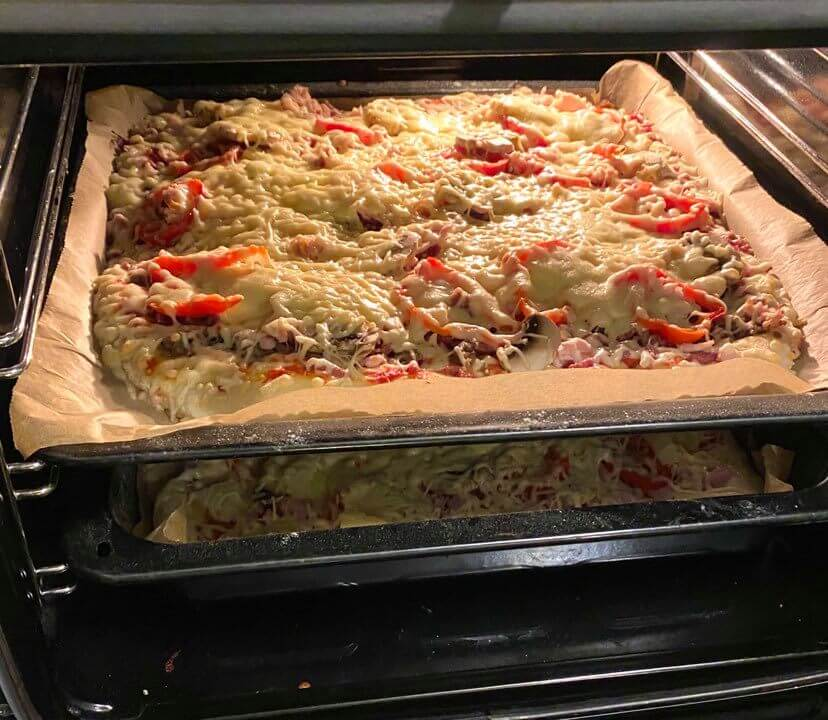 itse tehty pizza