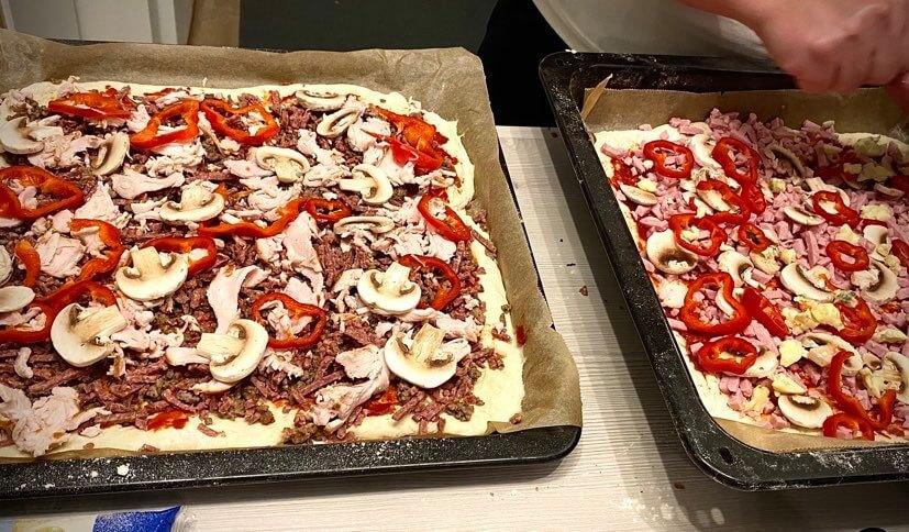 itse tehty pizza täytteet