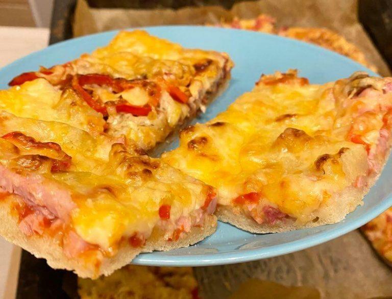 itse tehty pizza valmis