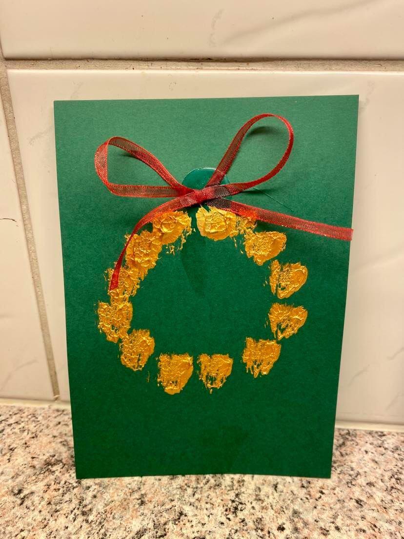 joulukorttiaskartelut pallo