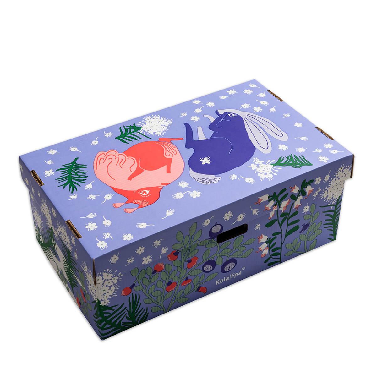 Äitiyspakkauksen laatikko